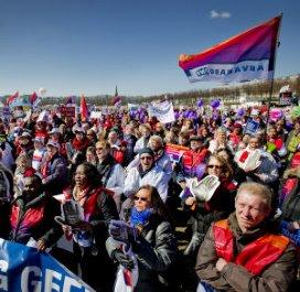 Zesduizend mensen bij thuiszorgdemonstratie