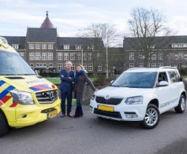 Ambulance en crisisdienstauto