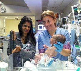 iPad vergroot band moeder en pasgeborene