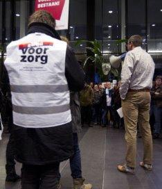 Ex-Pantein-Vivent medewerkers houden stadhuis bezet