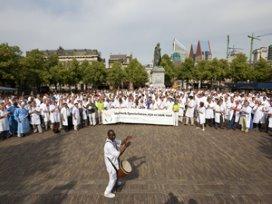 Fotoreportage: Specialisten voeren actie in Den Haag