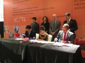 Zittend v.l.n.r.: Prof. Li Xiao Rong