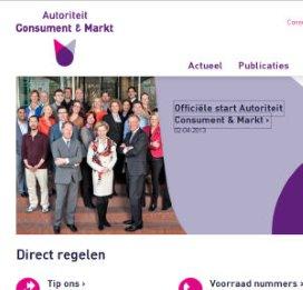 NMa is vanaf vandaag De Autoriteit Consument & Markt