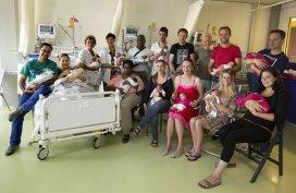 Zeven tweelingen in het Martini Ziekenhuis