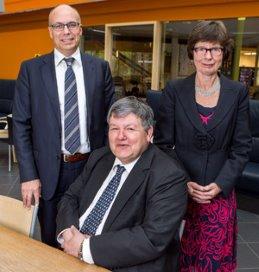 Roel Venema (links) treedt toe tot de raad van bestuur. Robbin Thieme Groen (midden)