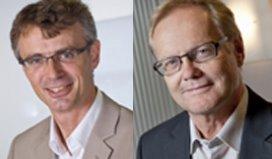 Ronald Luijk (L) en Martien Bouwmans