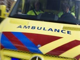 WK voetbal kijken in de ambulance