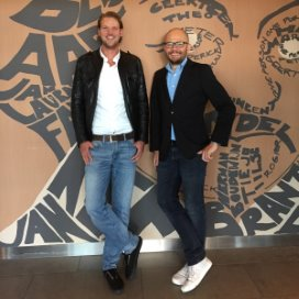 Zorgmarketeers Wouter Honselaar (links) en Wouter Houtman