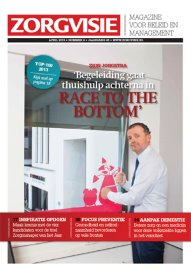 <p>Cover van Zorgvisie magazine