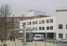 Sneeuw zorgt voor file bij ziekenhuis Ede