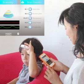 De Scanadu is een nieuw apparaat dat vitale functies meet via het voorhoofd.