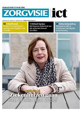 Cover Zorgvisie ict magazine nr. 01/2018
