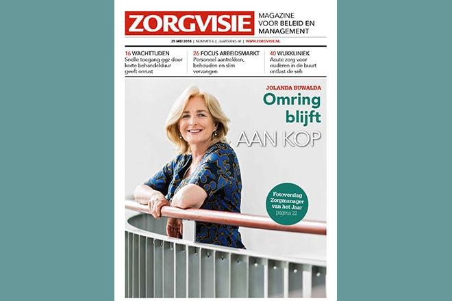 Cover Zorgvisie magazine, nr. 6-2018