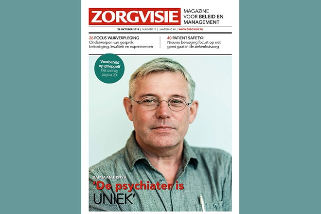 Cover Zorgvisie magazine nr. 11, 2018