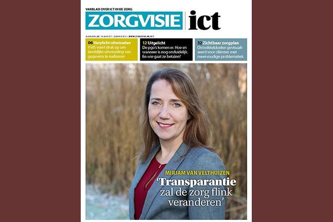 Cover Zorgvisie ict magazine nr. 1, 2019