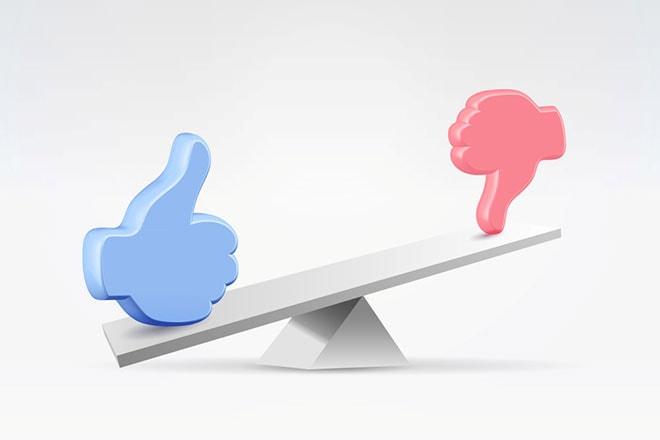 balans tussen waardering en afwijzing