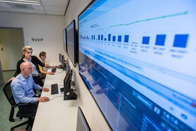 Het Amphia Hospital Control Center is een ontmoetingsplek om te sturen op capaciteit