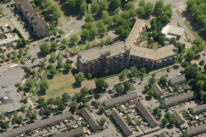 Het wijkcentrum D'n Iemhof in De Ruwaard dat wordt vernieuwd
