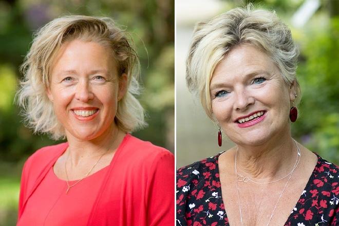 Karin Leferink (l) en Inge Borghuis (r): 'Nuland staat voor samen voor waardevolle zorg.'
